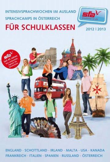 Intensivsprachwochen für Schulklassen 2012/13 - SFA Sprachreisen