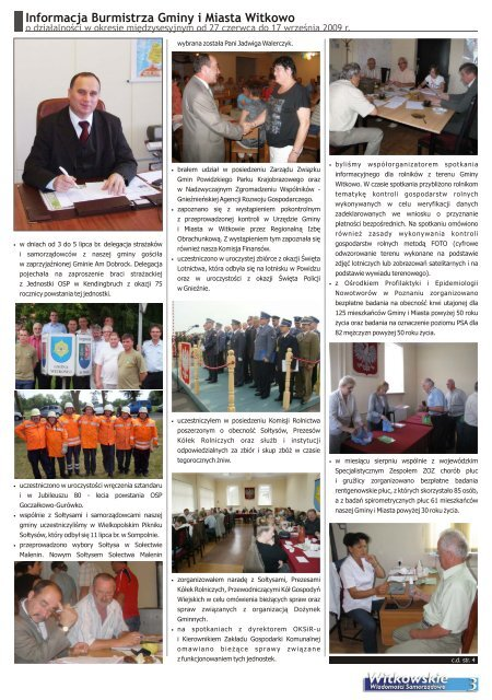 Wykonanie budżetu Gminy i Miasta Witkowo za 2008r