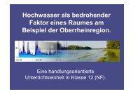 Hochwasser als bedrohender Faktor eines Raumes am Beispiel der ...
