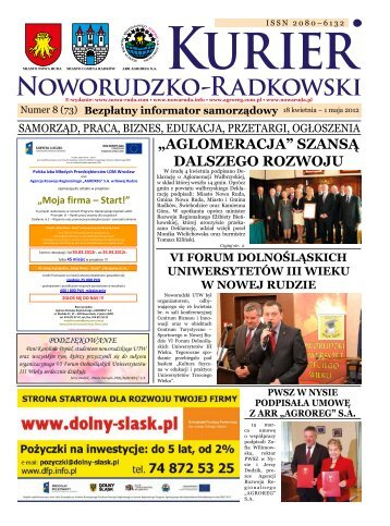 "Nr 8 (73) - Agencja Rozwoju Regionalnego ""AGROREG"" SA"
