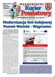 Modernizacja linii kolejowej - Starostwo Powiatowe w Wągrowcu