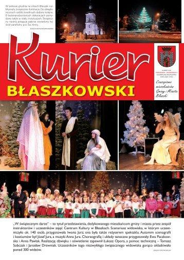 KURIER grudzien 2012.indd - Błaszki, Urząd Miasta i Gminy