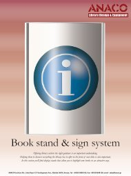 Book stand & sign system - Anaco