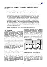 Velocity gauging with ADCP in rivers with bedload and ... - ISUD