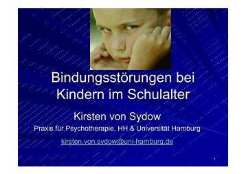 Bindungsstörungen bei Kindern im Schulalter - Erev