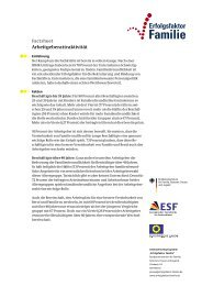 Factsheet Arbeitgeberattraktivität - Erfolgsfaktor Familie