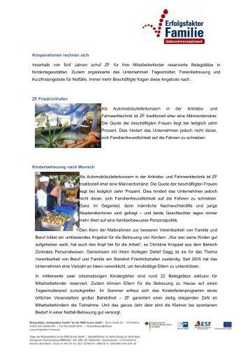ZF Friedrichhafen - Erfolgsfaktor Familie