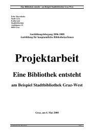 Eine Bibliothek entsteht am Beispiel Stadtbibliothek Graz-West