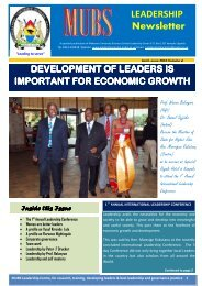 edited 11th news letter.final - Leadership Centre - Makerere ...