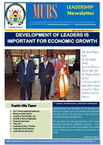 edited 11th news letter.final - Leadership Centre - Makerere ...