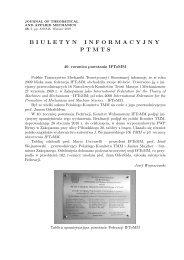 nr 3/2010 - Polskie Towarzystwo Mechaniki Teoretycznej i Stosowanej