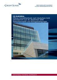 CS EUROREAL Offener Immobilienfonds nach deutschem ... - Skandia