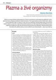 Plazma a živé organizmy - Oddelenie fyziky životného prostredia