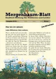 Mergenbaum-Blatt Winter 2012 - von Wolfgang Giegerich
