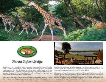 Brochure - Paraa Safari Lodge