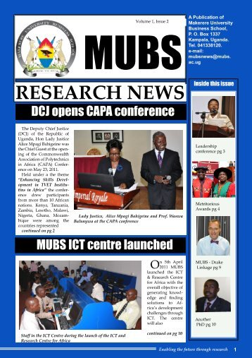Research Bulletin - Makerere University Business School