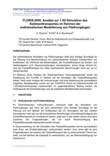 FLORIS-2000: Ansätze zur 1.5D-Simulation des - SCIETEC ...