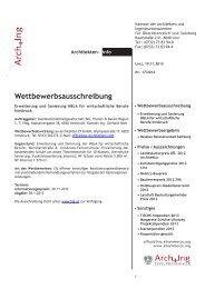 Wettbewerbsausschreibung - Kammer der Architekten und ...