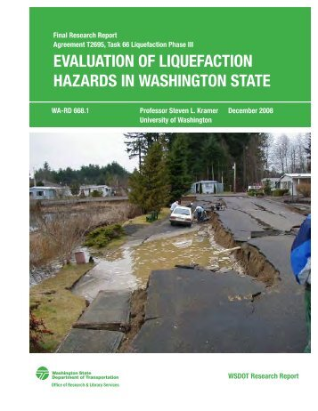 Chapter 1 Evaluation of Liquefaction Hazards in Washington State