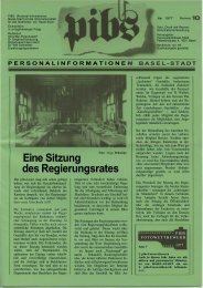 Am Telefon: Helmut Beltrami - Regierungsrat - Basel-Stadt