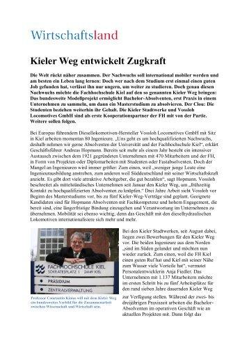 Kieler Weg entwickelt Zugkraft - bei ergoTOP