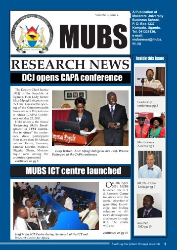 Volume 1 , Issue 2 - Makerere University Business School