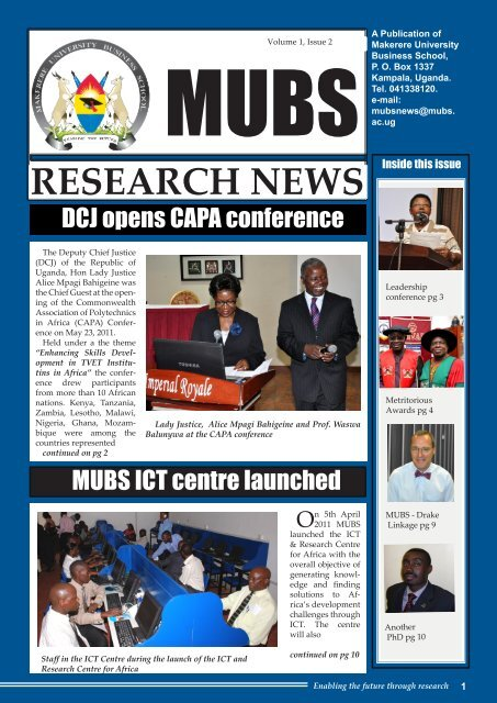 Volume 1 , Issue 2 - Makerere University Business School