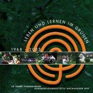 LE B EN UNDL ERNENIM G RÜ N E N 1968 - 2003 - Hackhauser Hof