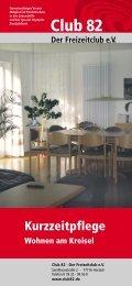 Prospekt und Preisliste - Pflegepension Wohnen am Kreisel - Club 82