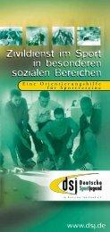 Zivildienst im Sport - Schulsport NRW aktiv