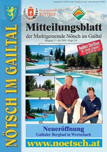 Mitteilungsblatt - Marktgemeinde Nötsch