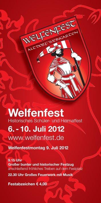 Programm Welfenfest - Weingarten.IN