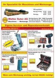 Walter Suter AG Maschinen • Werkzeuge - WASU-SHOP