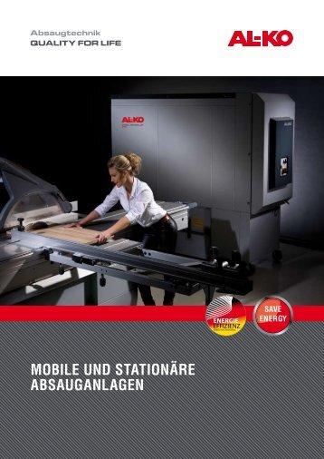 Mobile und Stationäre abSauganlagen - AL-KO