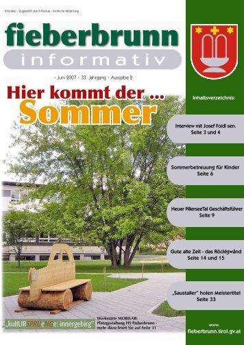 Hier kommt der ... - Fieberbrunn - Land Tirol