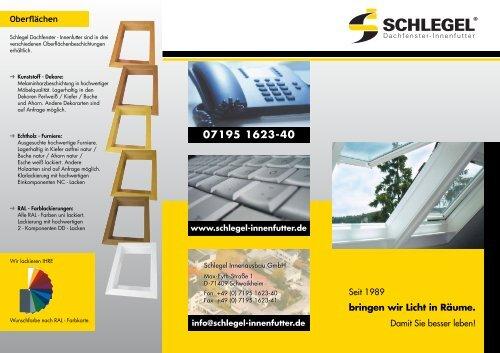 Aktueller Flyer - Schlegel Innenausbau GmbH