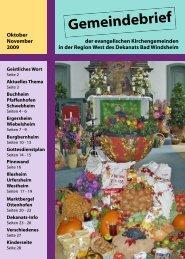 Gemeindebrief - Evang.-Luth. Dekanat Bad Windsheim