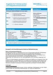 Angebote für Frühintervention und ... - firma-web.ch
