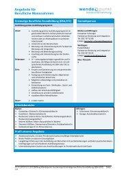 Angebote für Berufliche Massnahmen - firma-web.ch