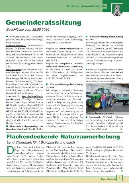 SPIELEFEST 22. August - Gemeinde Großradl