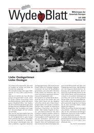 Wyde Blatt - Gemeinde Ossingen
