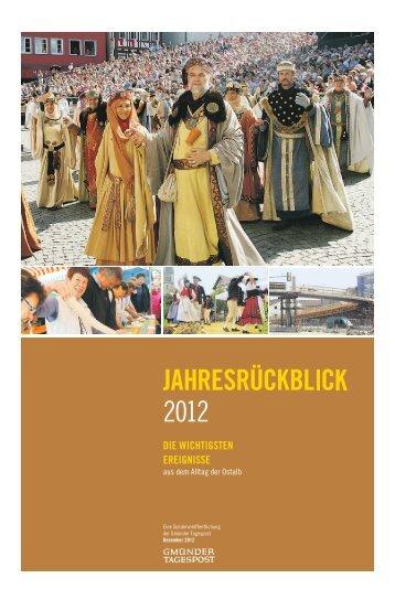 Jahresrückblick 2012 - Gmünder Tagespost