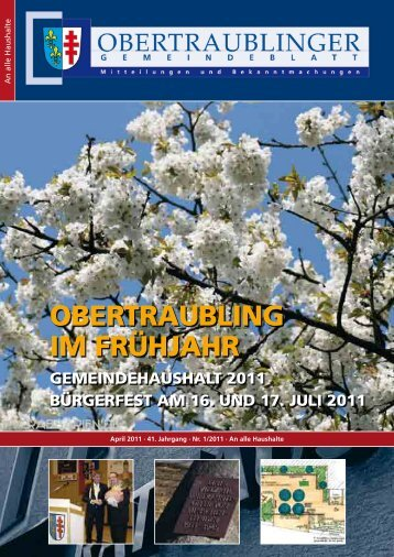 OBERTRAUBLING IM FRÜHJAHR - Landkreis Regensburg
