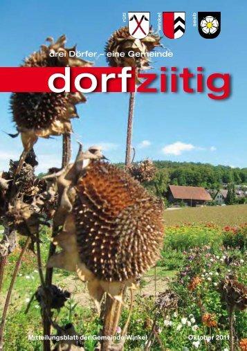 Dorfziitig Oktober 2011 - Gemeinde Winkel