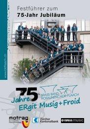 Festführer zum 75-Jahr Jubiläum - Brass Band Posaunenchor Flaach