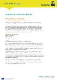 Geocaching. In Niederösterreich. - Semmering