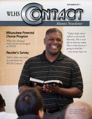 Wisconsin Lutheran High School Contact Magazine November 2011