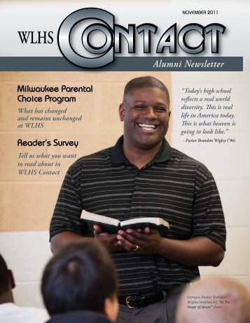 Wisconsin Lutheran High School Contact Magazine November 2011
