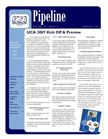 January 2007 - Underground Contractors Association of Illinois
