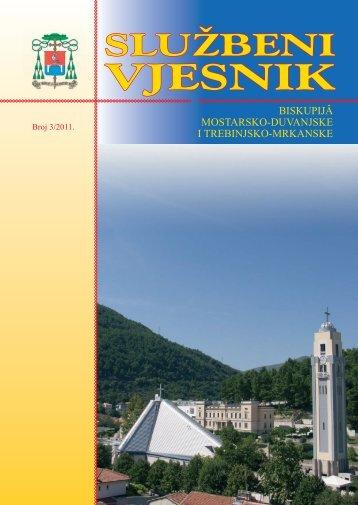 vjesnik službeni - Biskupije Mostar-Duvno i Trebinje-Mrkanj